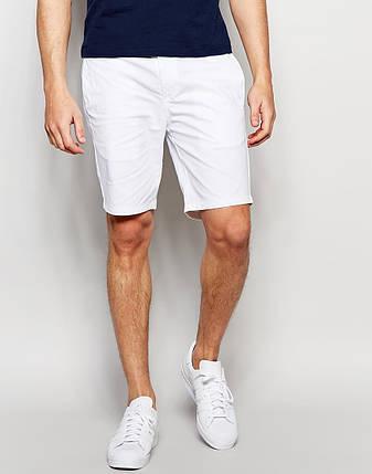 Мужские белые шорты чинос, фото 2