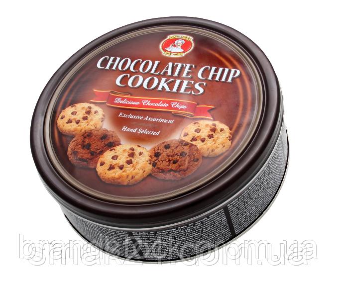 Печенье песочное Chocolate Chip Cookies  в ж/б Австрия 454 г