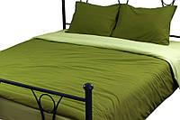 Комплект полуторный постельное белье микрофайбер (пододеяльник, 2 наволочки, простынь) ТМ Руно зеленый 1.52, фото 1