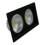 Светодиодный светильник 36Вт SC36CWK BL 240x125мм ЧЕРНЫЙ