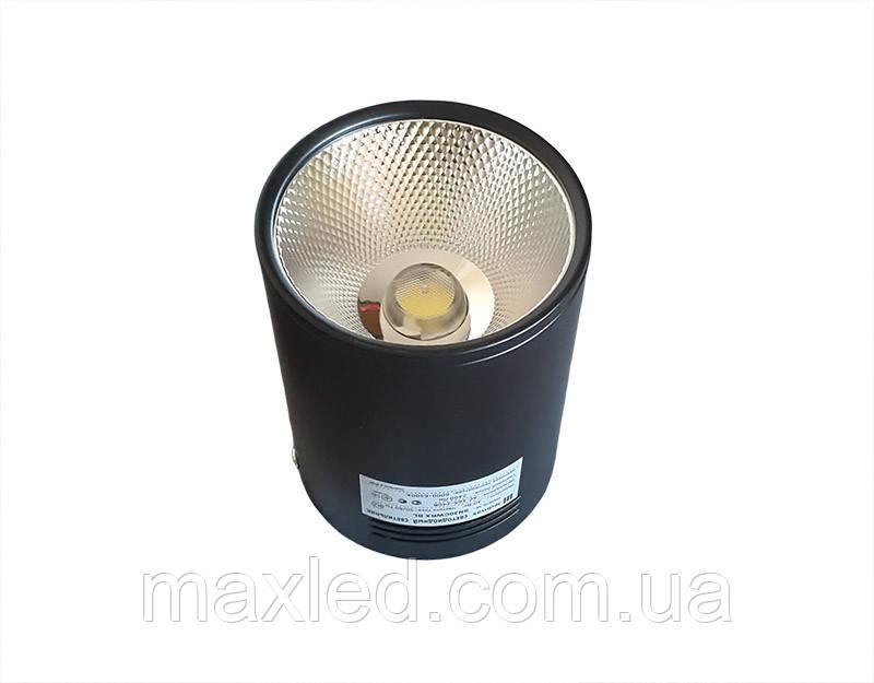 Світлодіодний світильник 30Вт SN30CWRX BL100мм (накладної) ЧОРНИЙ