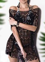 Женская кружевная пляжная туника  янм1016, фото 1