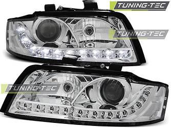 Фары передние тюнинг оптика Audi A4 b6