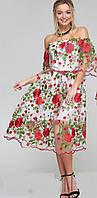 Платье женское с вышивкой  янм3731, фото 1