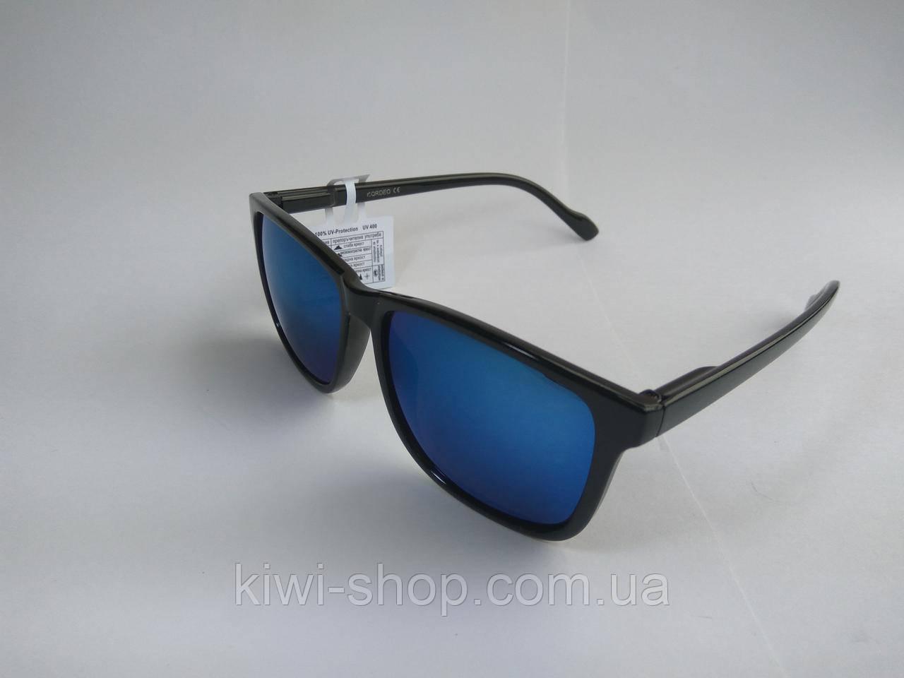 Солнцезащитные Очки Wayfarer Черные с Синим Зеркальным Стеклом (аналог Ray  Ban) — в Категории
