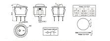 Перемикач клавішний КП-20 3 контакти, 2 положення з фіксацією без підсвічування 220В. Чорний, фото 3