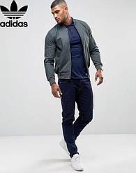 Футболка, поло, тенниска Adidas Адидас темно -синяя
