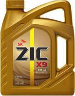 Синтетическое моторное масло ZIC X9 5W-40 4 л.