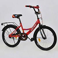 """Велосипед 20"""" дюймов 2-х колёсный С20808 (1) """"CORSO"""" (1) КРАСНЫЙ, ручной тормоз, звоночек, мягкое сидение, СОБРАННЫЙ НА 75% в коробке"""