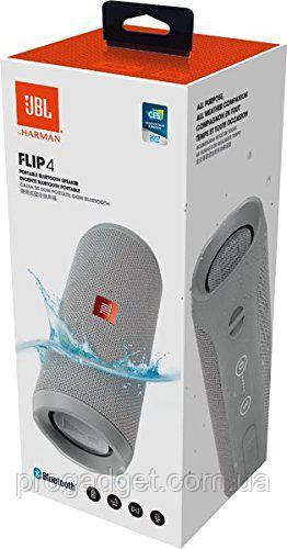 JBL Flip 4 Gray Bluetooth 4.2 беспроводная колонка с чистым звуком глубоким бассом и аккумулятором в 3 Ач