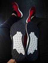 Мужские кроссовки Реплика Nike Racer / Найк рейсер червоні з білою підошвою, фото 3