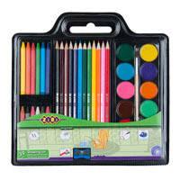 Набір для малювання (фарби, кол.карандаши, крейда воскова, пензель натуральний, чинка)