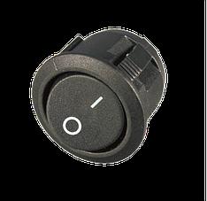 Перемикач клавішний КП-20 3 контакти, 2 положення з фіксацією без підсвічування 220В. Чорний, фото 2