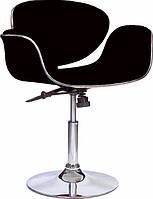 Кресло Студио, мягкое, хром, цвет черный