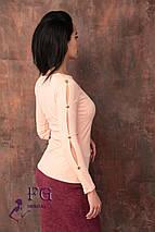 Кофта женская рукава с разрезами и золотистыми пуговицами, фото 3