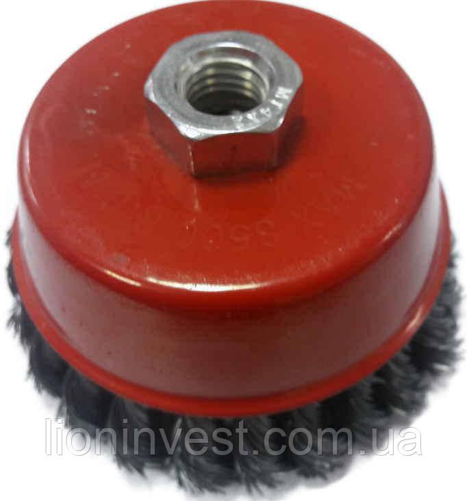 Щетка чашечная 85 мм, для УШМ, М14 (витая проволока)