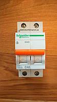 Автоматический выключатель1полюс+N 40А типа ВА63 серии «Домовой»