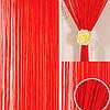 Шторы нити Однотонные Люкс №17 Красный