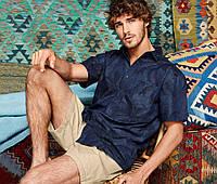 Стильная мужская рубашка Tchibo 39-40 ворот М размер