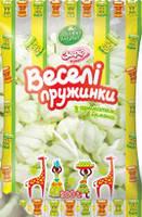 Жевательный зефир Веселые пружинки со вкусом лимона , 200 гр