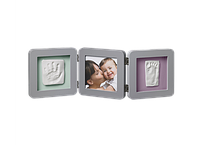Тройная рамочка  Baby Art Double Print Frame - Grey
