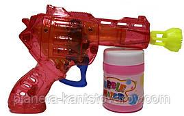"""Мыльные пузыри механический пистолет со светом + мыльная жидкость  929А """"Пистолет"""""""