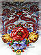 Шерстяной платок Сладкий сон, белый с красным, фото 4