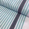 Лён полотенечный с бирюзовой полоской, ширина 50 см