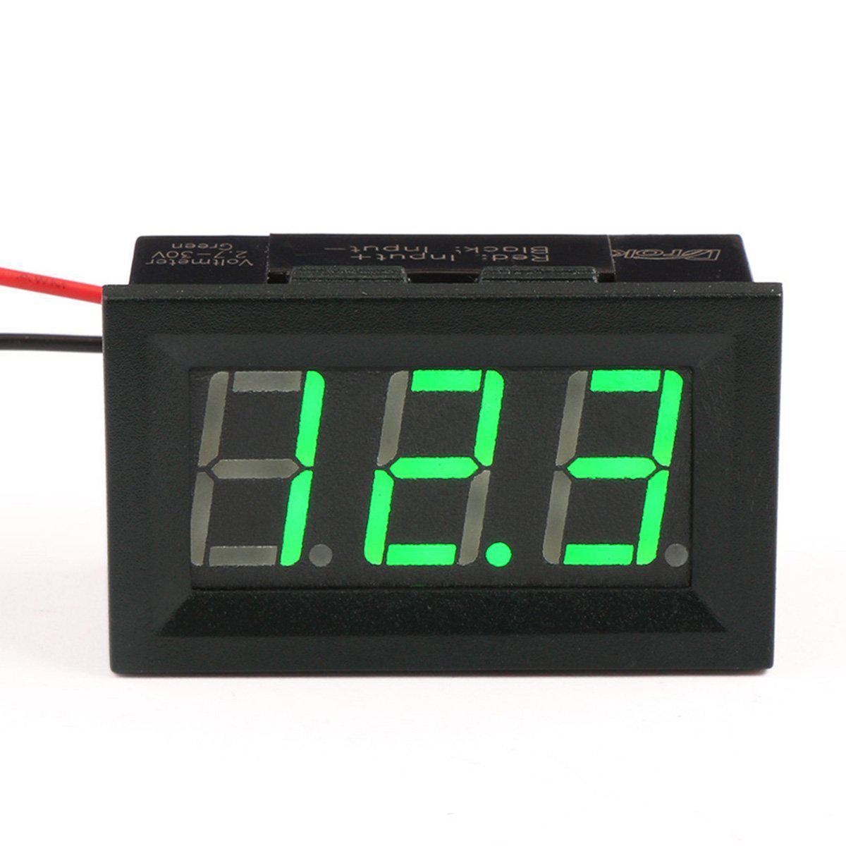 Цифровой вольтметр постоянного тока 0-100В DC Зеленый автономный
