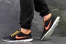 Мужские летние кроссовки Nike Free Run 3.0 черные с оранжевым 41,44, фото 2