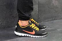 Мужские летние кроссовки Nike Free Run 3.0 черные с оранжевым 41,44, фото 3