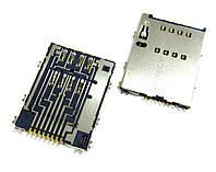 Сим коннектор Samsung S5250/S5750/P5100/P6800/P7500/P7510 (3709-001625) Orig