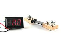 Цифровой амперметр постоянного тока 0~100А DC с шунтом встраиваемый Красный, фото 1