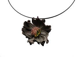 Coolbag. Украина Кулон цветок из натуральной кожи на ободке