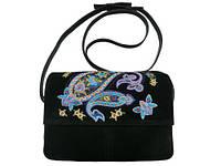 Coolbag. Украина Женская кожаная сумка с вышивкой пейсли
