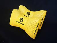 Подушка на подголовник Mazda Speed желтая