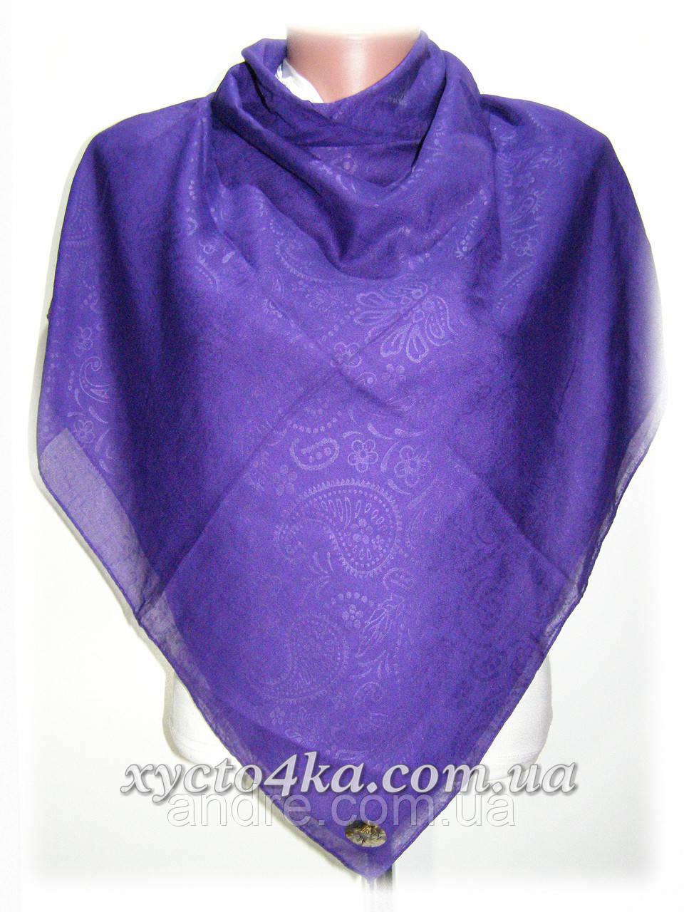 Натуральный платок класик, фиолетовый
