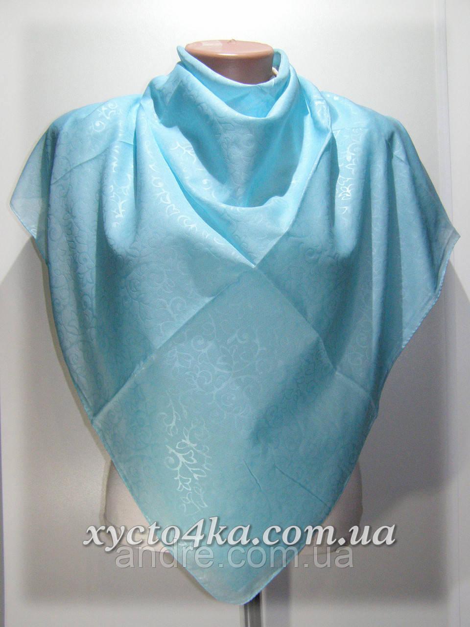 Натуральный платок класик, бирюза