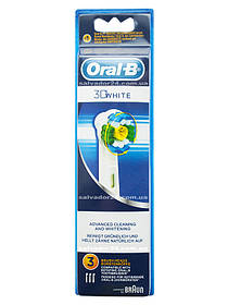 3D White EB18 (3 штуки), насадки для зубной щетки Oral-B