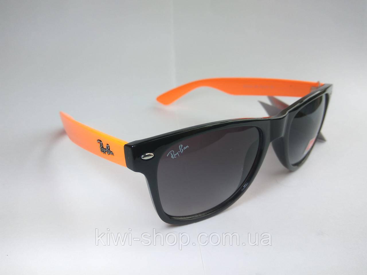 ... 702806d005c Солнцезащитные очки Ray Ban Wayfarer с оранжевыми дужками - Интернет  магазин ... dc2066976ff24