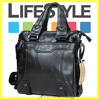 Мужская кожаная сумка Polo Videng (Vicuna) а4 формат XXL. + 2 Подарка!