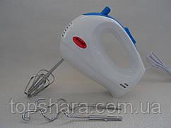 Ручной миксер Wimpex WX-433  на 250 вт. белый с синим