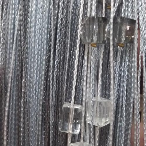 Шторы нити Радуга со стеклярусом №1+7+207