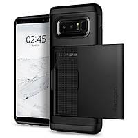 Чехол Spigen для Samsung Note 8 Slim Armor CS, Black