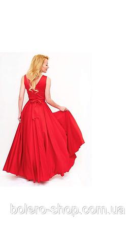 Женское платье красное шелк Италия, фото 2