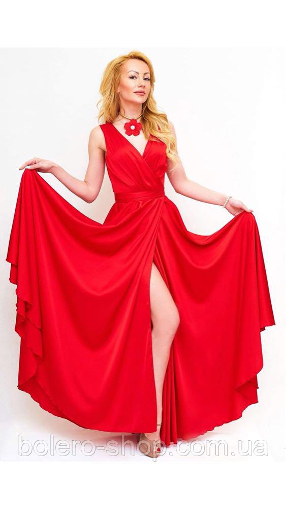 Женское платье красное шелк Италия