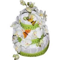 Торт из памперсов Орхидеи