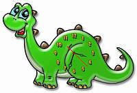 """Фигурные детские настенные часы """"Динозаврик"""" 30х45 см"""