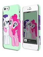 Чехол для iPhone 4/4s/5/5s/5с my little pony \ понивиль пинки пай и принцесса силестия