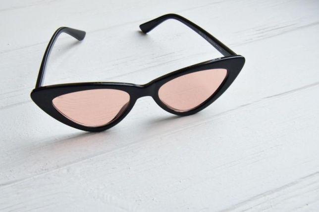 Узкие солнцезащитные очки Fendi  2020 лисички черные хит